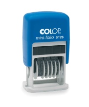 Mini-Folio COLOP S126 4mm/6míst-číslovačka