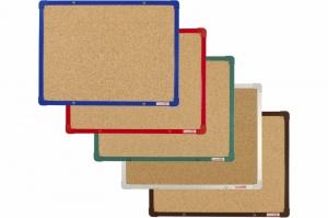 Korkové tabule s barevným rámem