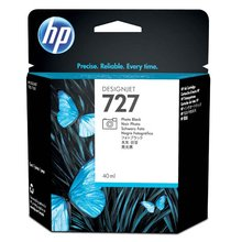 Inkoustová cartridge HP B3P17A, DesignJet T1500, T2500, photo black, No. 727, originál
